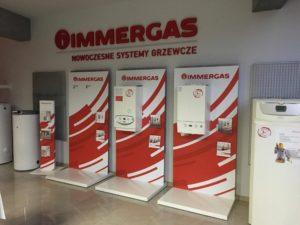 Immergas - Jarosław, ul. Flisacka 7 Oznakowanie ścianki u partnera handlowego Elektrokal sp. z o.o.